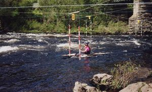 Canoing in a slalom