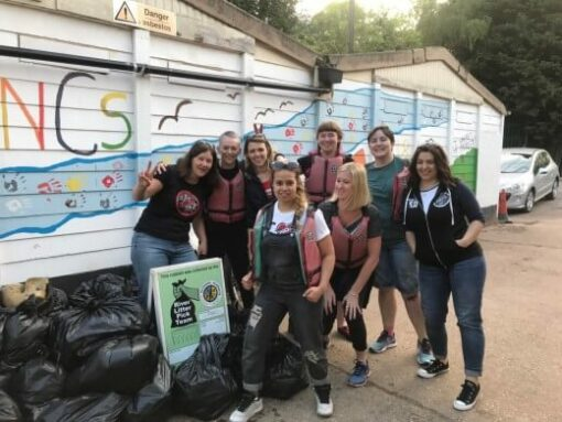 the dollies team and rubbish bags