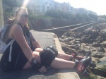 Krips chilling after a skate on the seafront